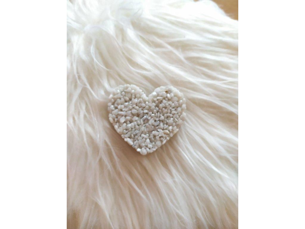 Malé Srdce dekorační bílé