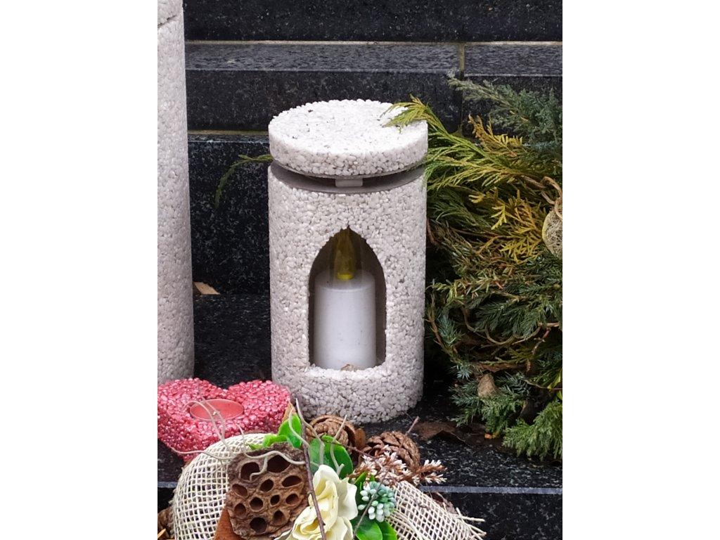 Hřbitovní Svítilna bílá lucerna