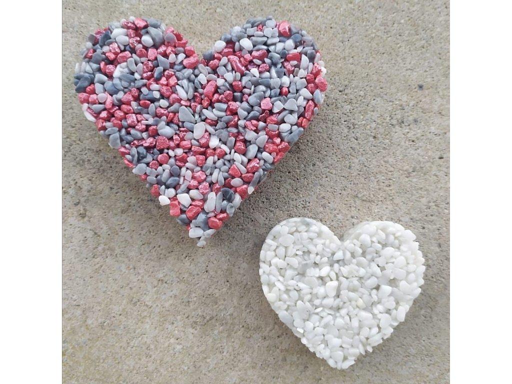Srdce Šedo-červené