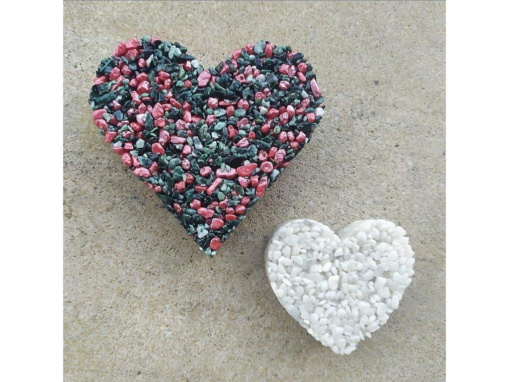 Srdce černo-červené