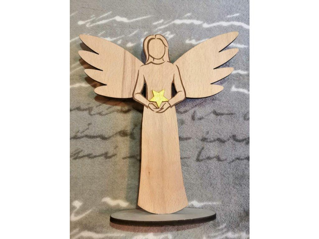 Anděl s hvězdou 20 cm
