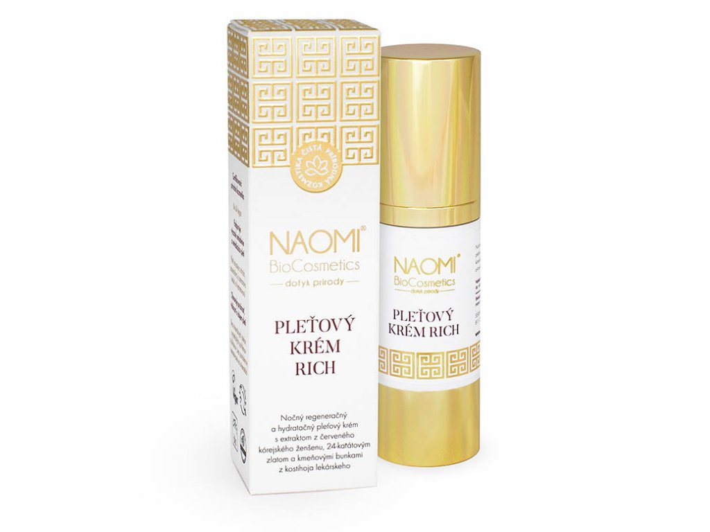 Bio veganský pleťový krem Naomi BioCosmetics, organická kosmetika, aryama