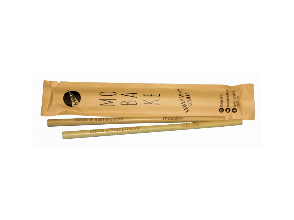 Mobake Sada bambusových brček v papírovém sáčku