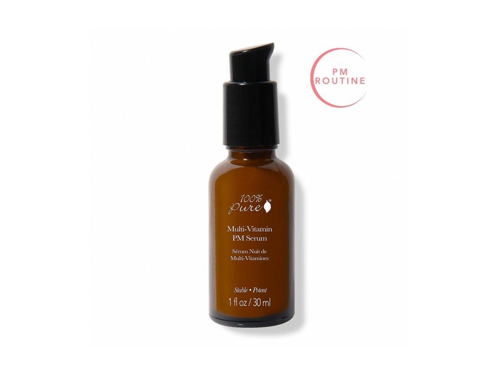 100% Pure - Pleťové noční sérum Multivitamín a antioxidanty 30 ml