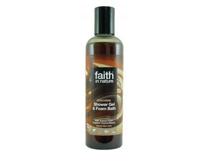 faith in nature eko čokoládovy sprchový gel vegan