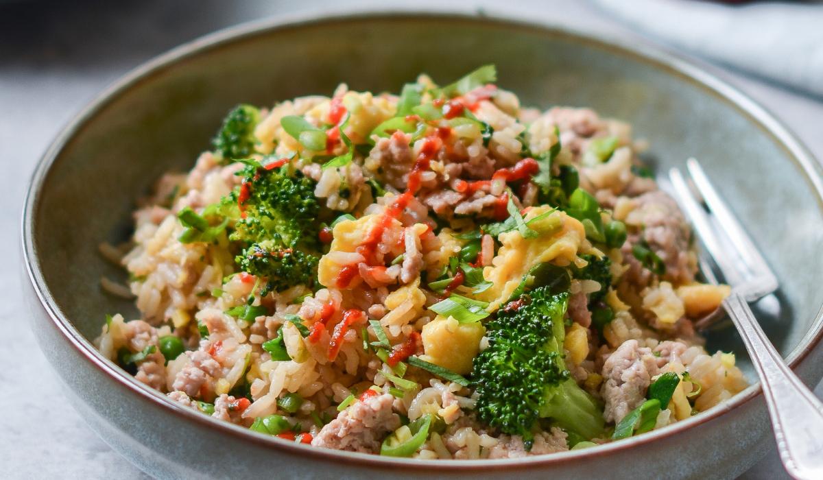 Smažená rýže s vepřovým