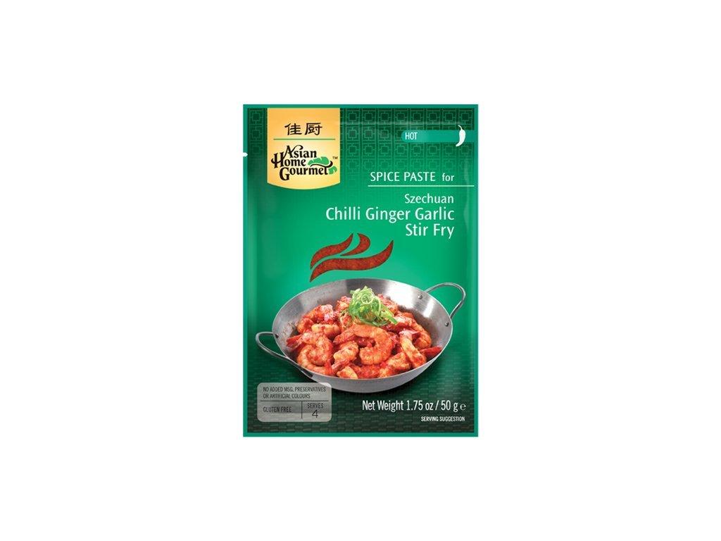 Sečuánské Stir-Fry s chilli, zázvorem a česnekem pasta 50 g