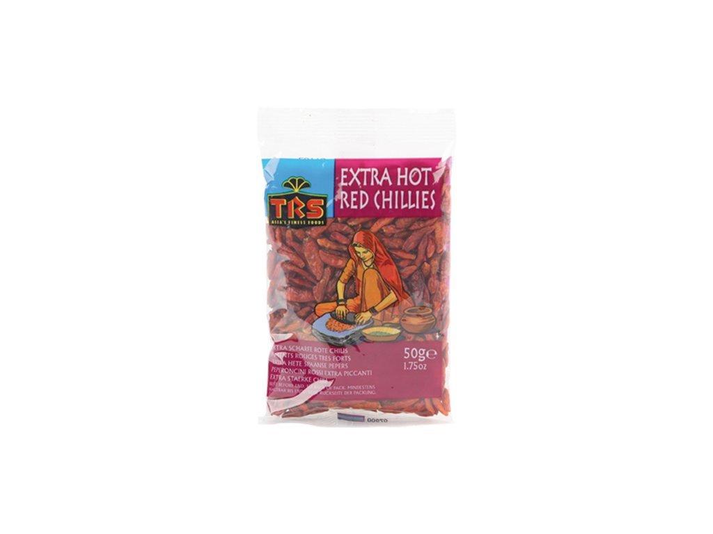 Chilli papričky sušené extra pálivé 50 g