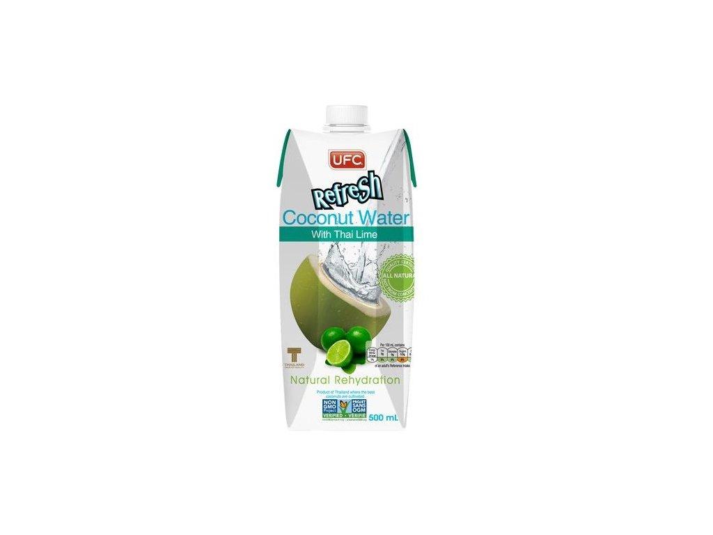 Kokosová voda s limetkou 100 % fresh 500 ml