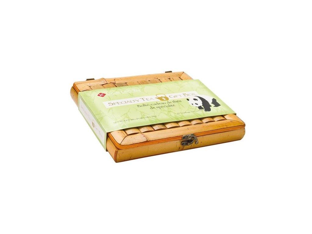 Dárkový set - 60 ks 100 % organických čajů - krabice z bambusu
