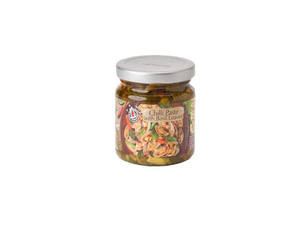 Chilli pasta s bazalkovými listy 180 g