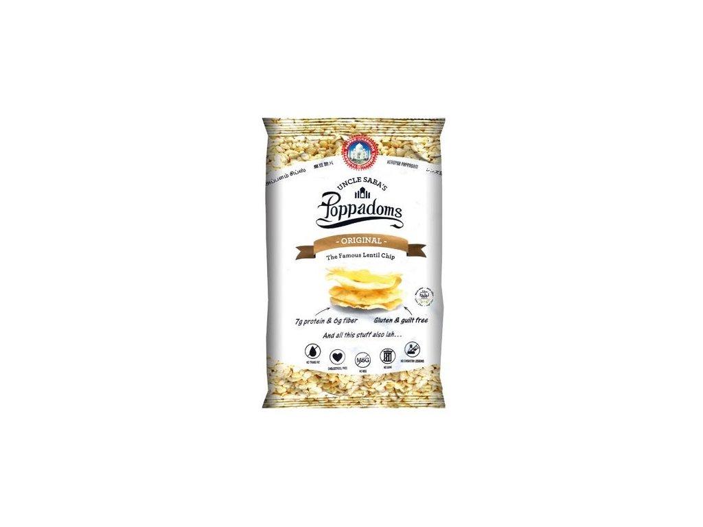 Poppadoms - lupínky z čočky (originál) 50 g