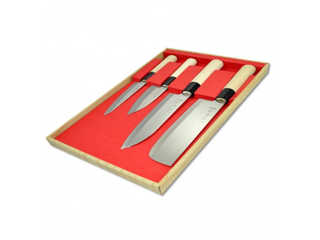 Sada nožů II - Box 4 Ks Sekyriu Japan