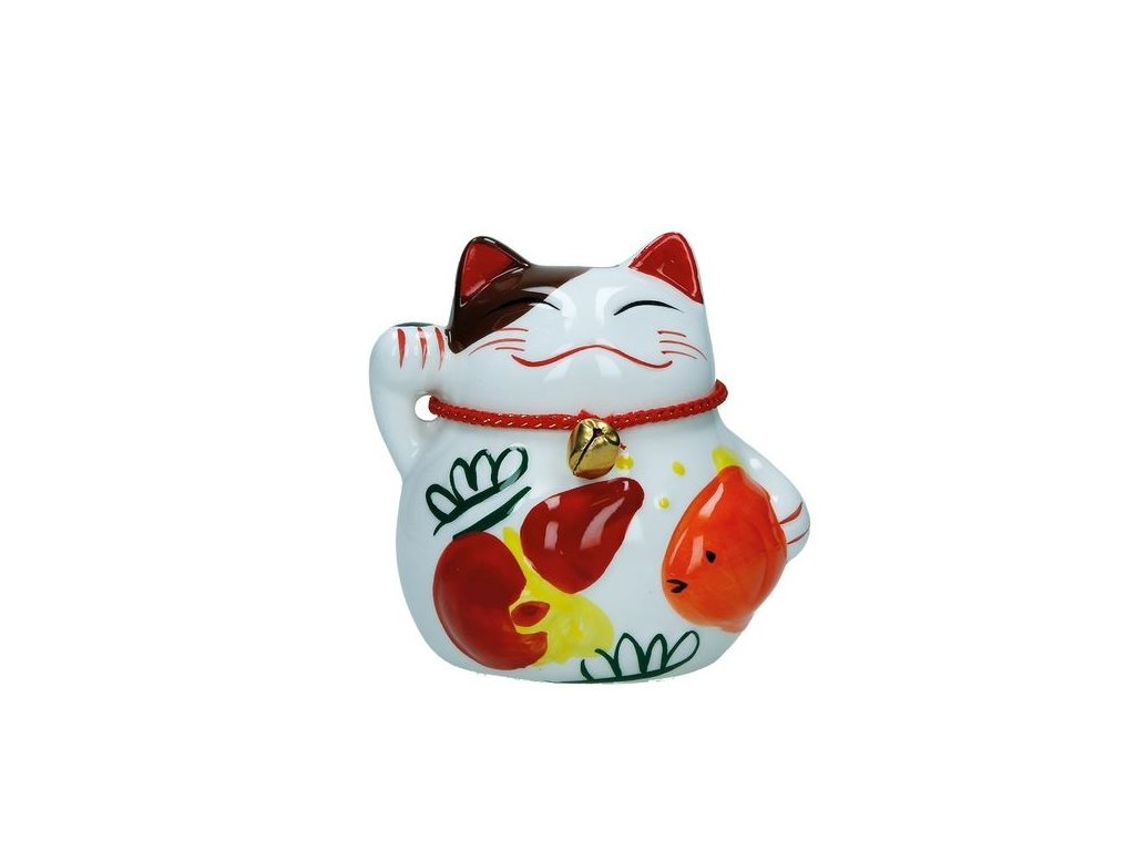 Čínská keramická kočka