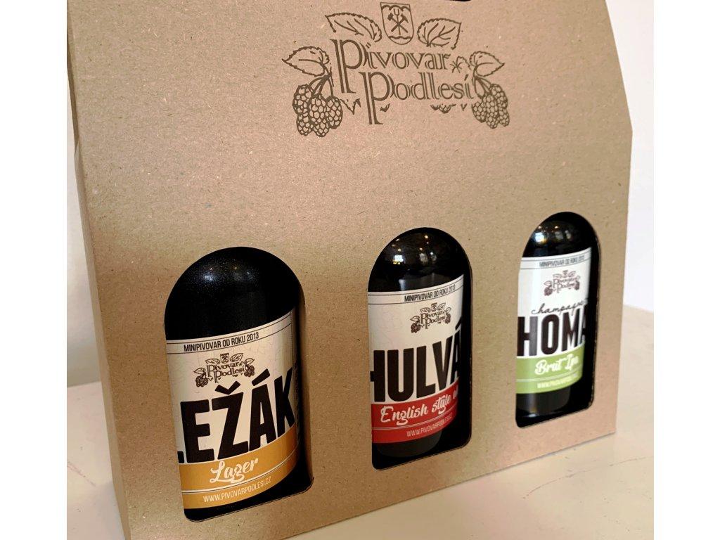 Dárkový set řemeslných piv 1 (podporujeme české řemeslné výrobky)