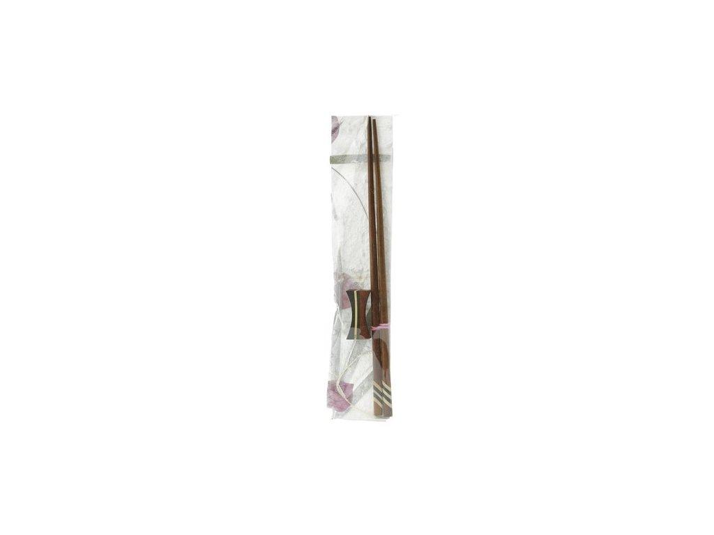 Dekorativní dřevěné hůlky s držákem