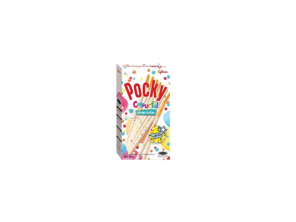 Pocky tyčinky colourful 36 g