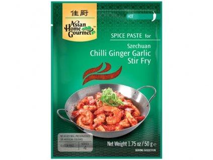 Sečuánské smažené nudle s chilli, zázvorem a česnekem 50 g
