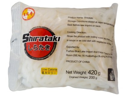 "Shirataki nudle ""udon"" (kulatý tvar)  400 g"