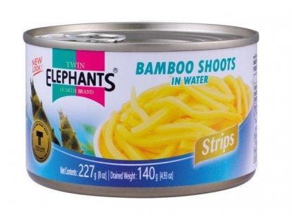 Twin Elephants bambusové výhonky proužky 227 g