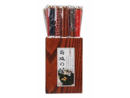 Hůlky dřevěné lakované 1 pár