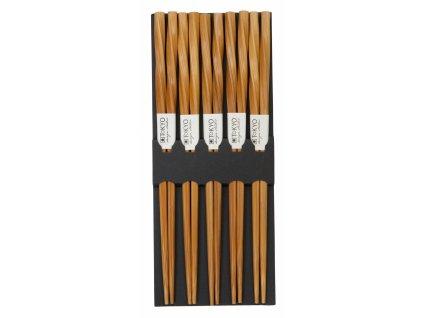 Dřevěné hůlky s kroucením 5 parů
