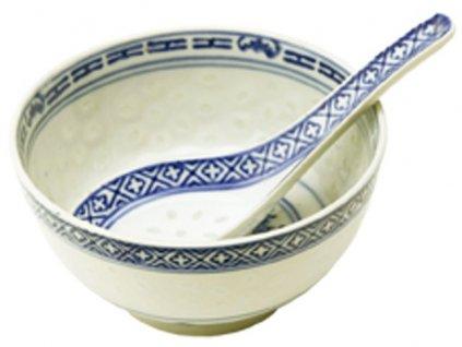 Miska bez lžičky rýžový porcelán 11 cm