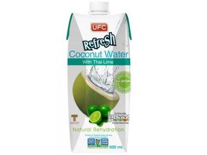 Kokosová voda s limetkou 100% fresh 500 ml