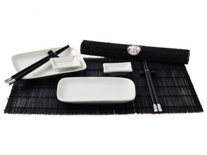 HS Servírovací set na sushi pro dva černá 10 ks
