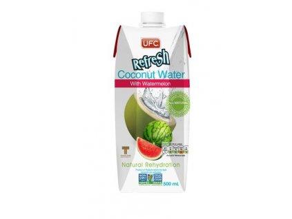 Kokosová voda s vodním melounem 100 % fresh 500 ml