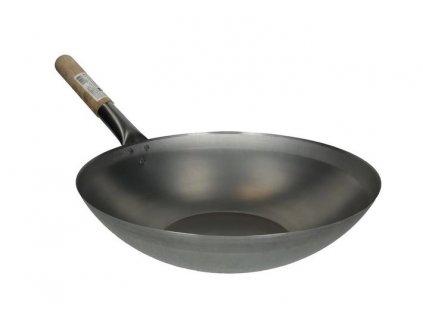 Pánev WOK ocelová 38 cm - ploché dno