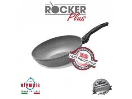 panev wok rocker plus induction o 28 cm z liteho hliniku s mineralnim kameninovym povrchem