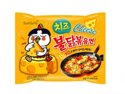 Instantní nudle Samyang s příchutí pálivého kuřete a sýra 140 g