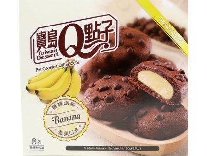 sušenkové mochi banán