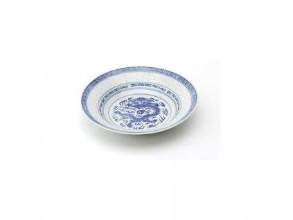 Talíř z rýžového porcelánu hluboký 22,5 cm
