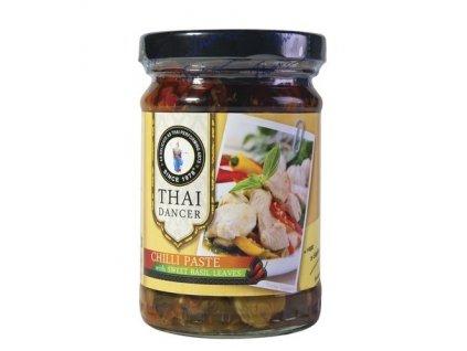 Chilli pasta s bazalkovými listy 200 g