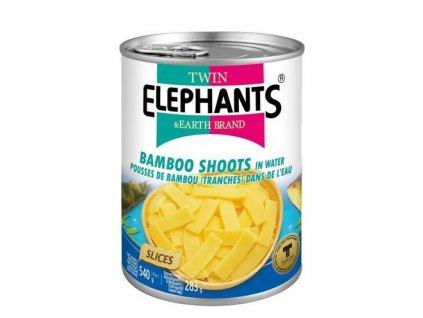 Twin Elephants bambusové výhonky plátky 540 g