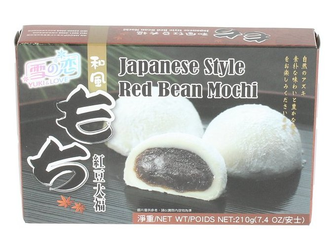 Japonské Mochi s náplní z červené fazole 210 g