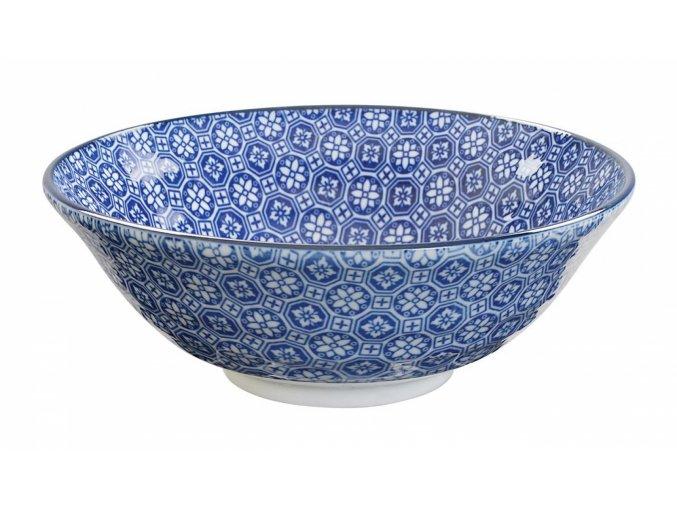 Miska Nippon Blue Soba 21x7.8cm 1.1l Flower