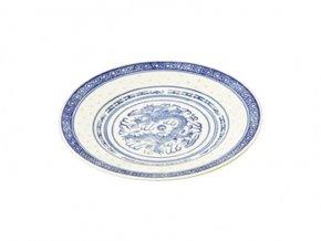 Talíř mělký z rýžového porcelánu 20 cm