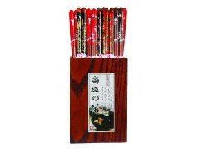 Hůlky černo-červené 1 pár