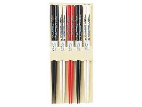 Hůlky barevně lakované 5 parů