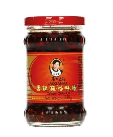 Lao Gan Ma chilli olej s křupavou cibulkou 210 g