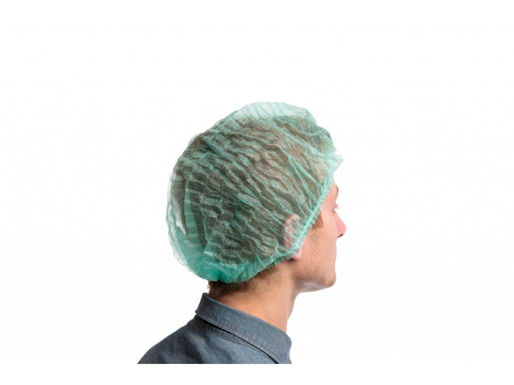 Pokrývka hlavy - baret, modrý 100 ks