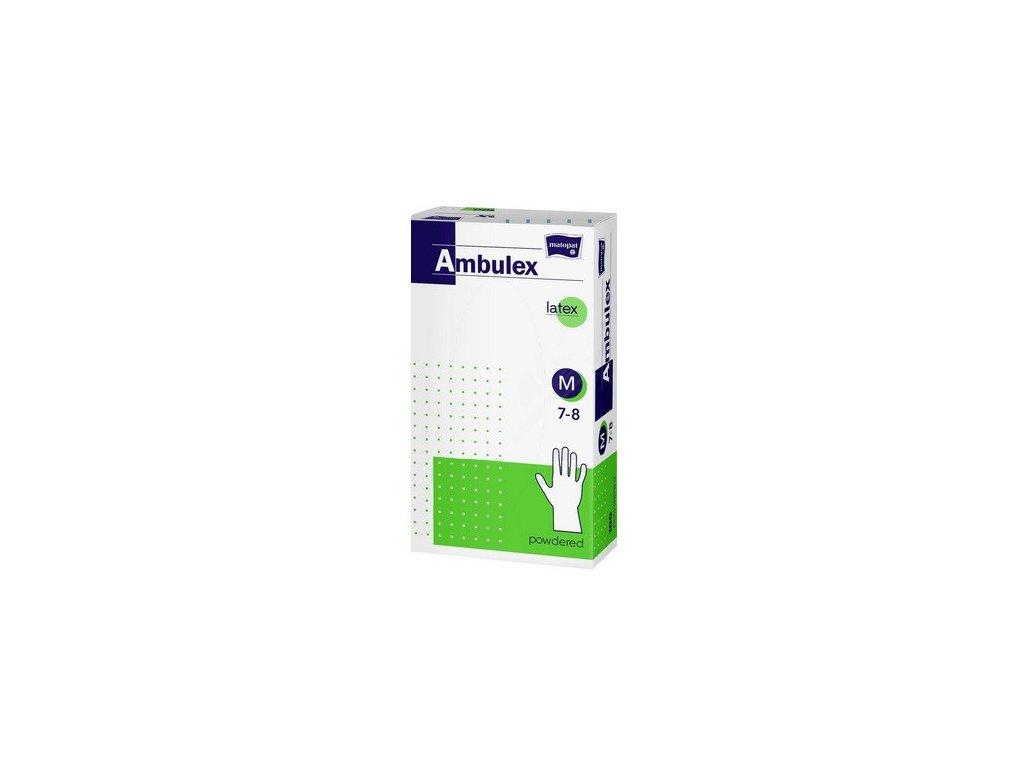 Rukavice vyšetřovací latexové pudrované AMBULEX