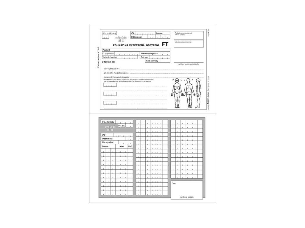 Poukaz na vyšetření - ošetření FT A5 (varianta volné listy, 100 ks)
