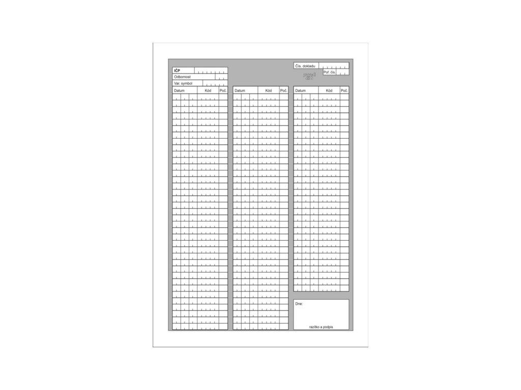 Poukaz na vyšetření - ošetření DP A4 (varianta volné listy 100 ks)