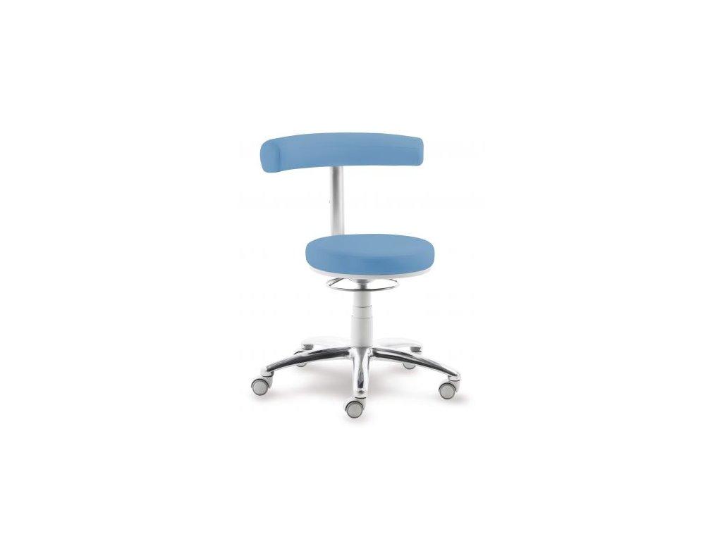 Stolička otočná pro náročný provoz (varianta s oporou nohou)