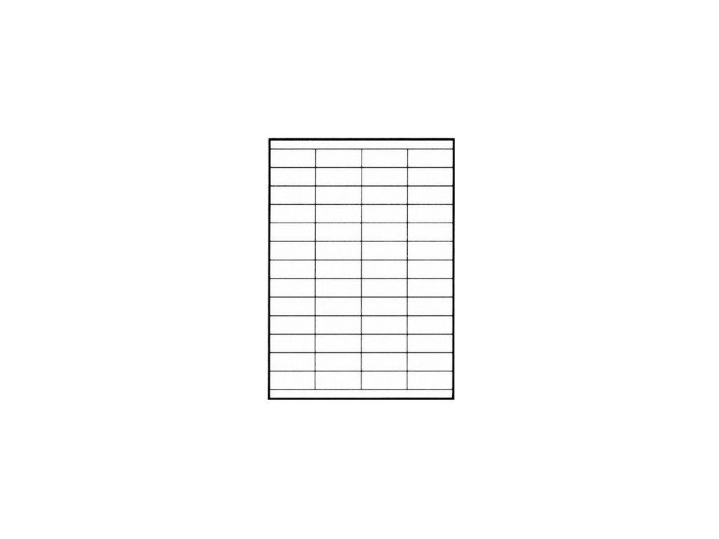 Samolepicí štítek - etiketa na archu A4 (varianta 105 x 148 mm / 4 ks na archu A4)