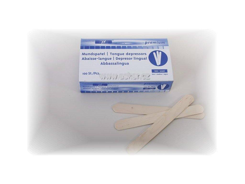 Lopatky sterilní lékařské na jazyk 50 ks